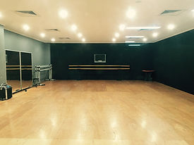 One of the 3 large air-conditioned dance studios at Hayward Street.