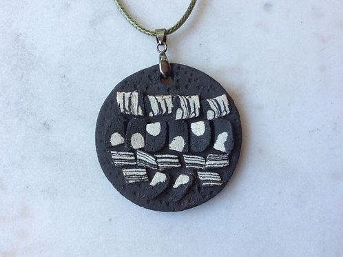 Matte Black Ceramic Pendant