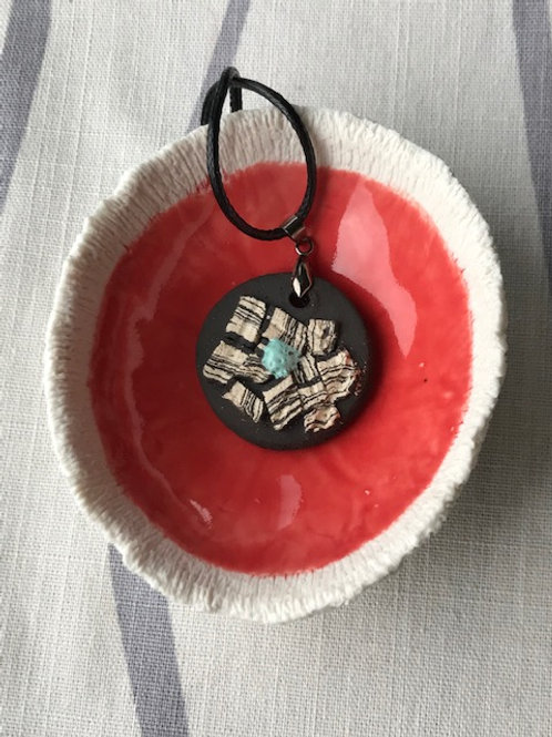 Jewellery bowl and Strata Pendant