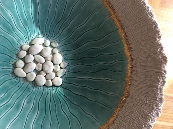 Gold Sea bowl detail