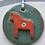 Thumbnail: Round Dala Horse decoration