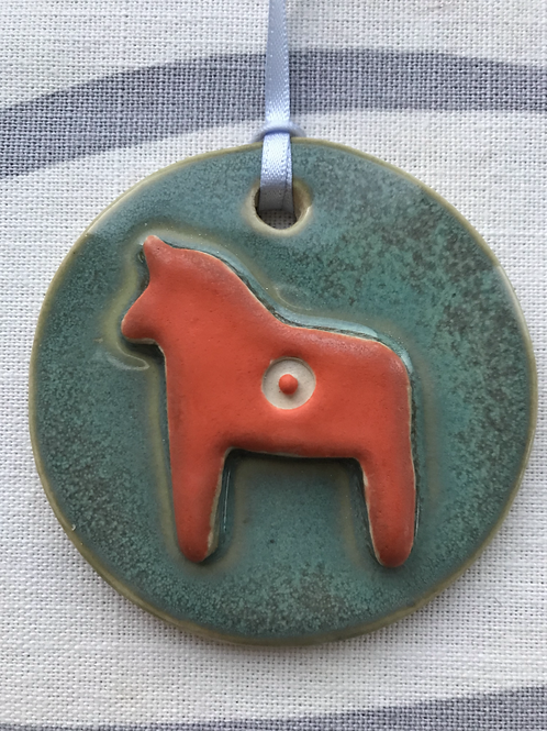 Round Dala Horse decoration