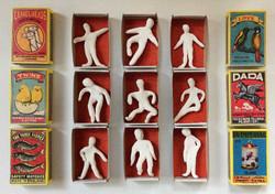 Porcelain Matchbox men figures