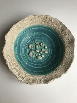 Ammonite sea bowl