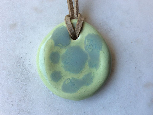 Porcelain pebble pendant