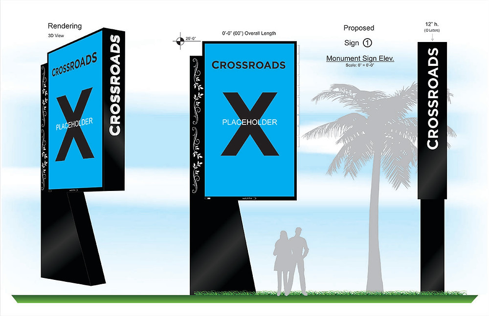 Monument Sign Drawings for Sign Shops | Nationwide