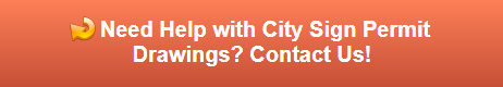 Request a Quote on City Sign Permit Drawings