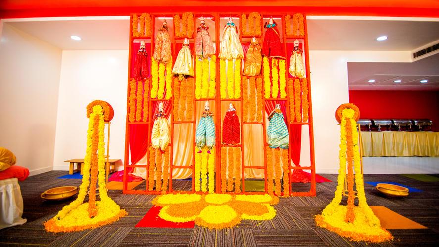 Marigold Decoration for Haldi