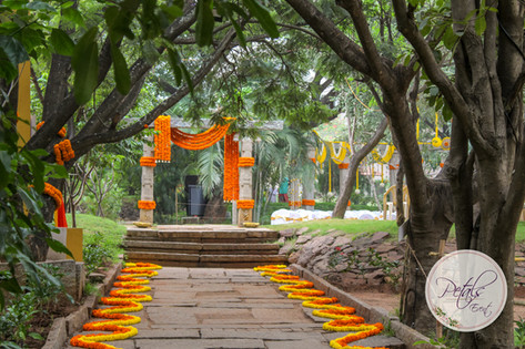 Shankara Foundation Marigold Decoration Wedding