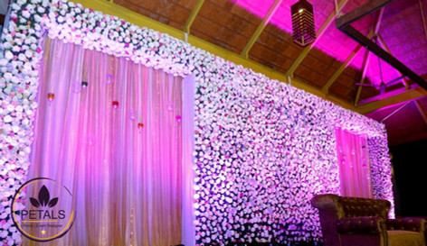 Wedding reception decor at Panchavathi