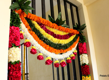 Why Mango Leaves and flowers thoran for Weddings?