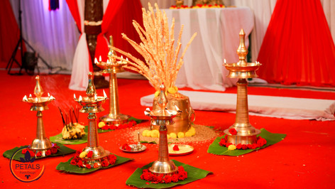 Kerala Wedding Ritual Decor