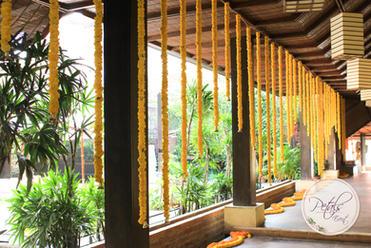 Temple Tree Marigold Decor Entry Decor