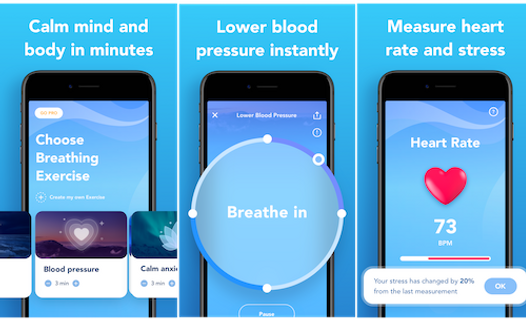 breathing apps to lower blood pressure