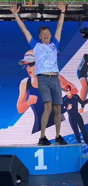 Dmitri Konash, 56,  wins Ironman race in his age group