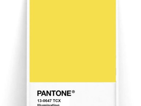 PANTONE ILLUMINATING: AMARILLO BRILLANTE EN TU VIDA!