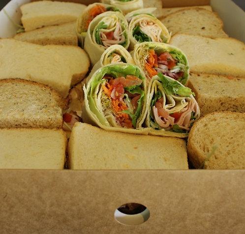 Lunch Sandwiches, Rolls & Wraps (per person)