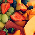 Fresh seasonal fruit platter - $4.40 per person