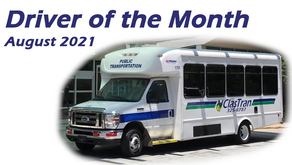 Driver of the Month - August 2021