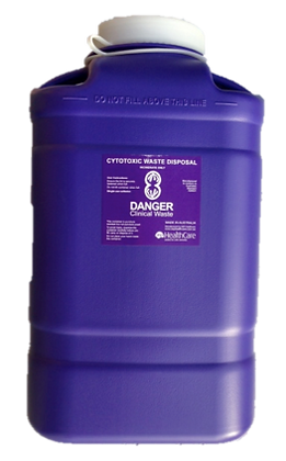 19 Litre Screw Top Cytotoxic Sharps Container