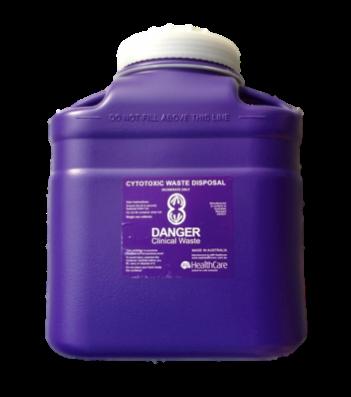 12 Litre Screw Top Cytotoxic Sharps Collector