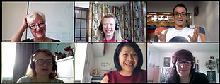 Screenshot of two women video conferencing | The Open Mind Institute