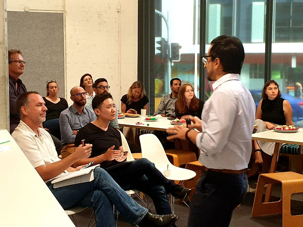 Paul Pitsaras operating a workshop | The Open Mind Institute