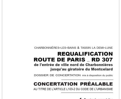 Requalification de la route de Paris