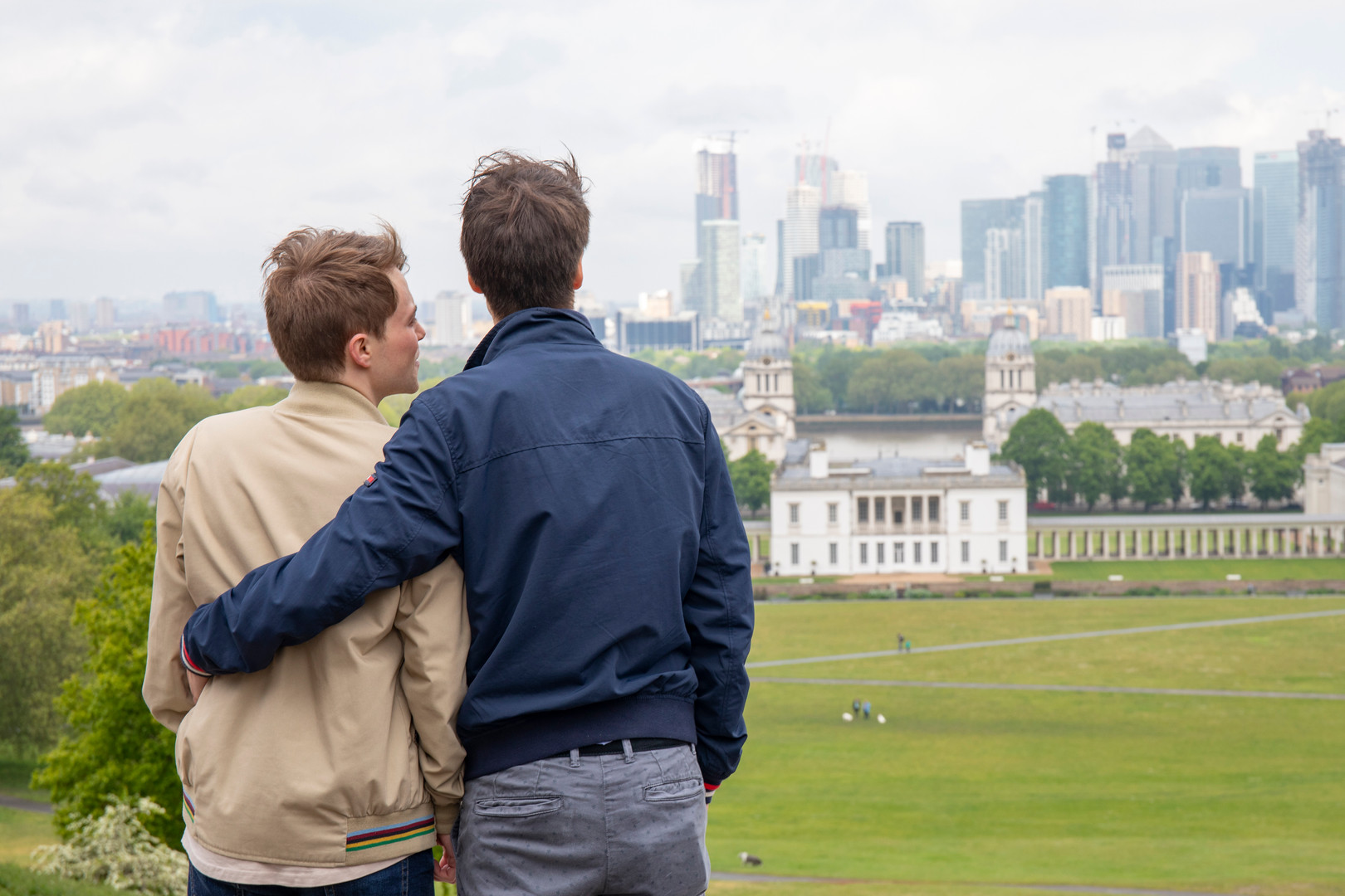 Couple looking out over greenwich