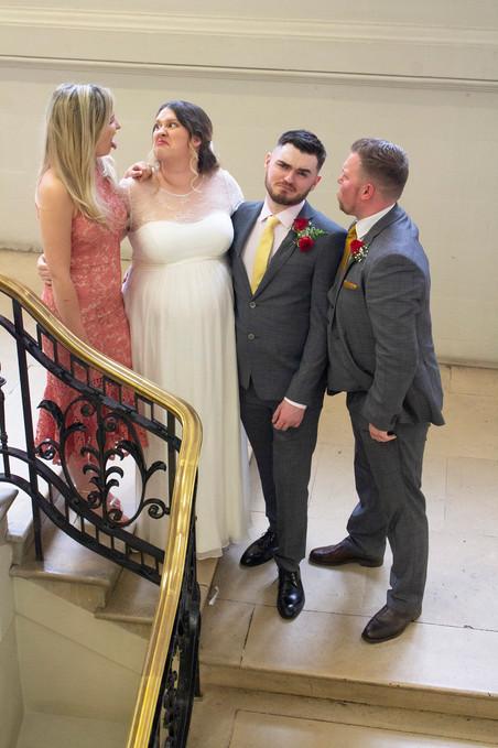 Bride, groom, bridesmaid and best man