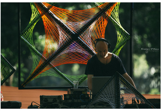 AG performing DJ set