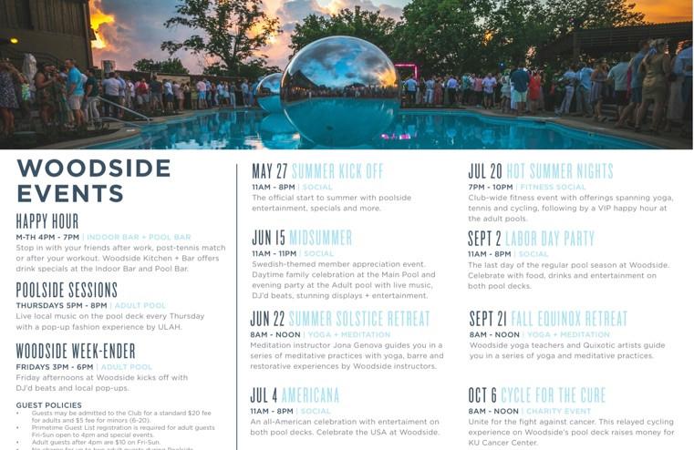 Woodside Events Calendar