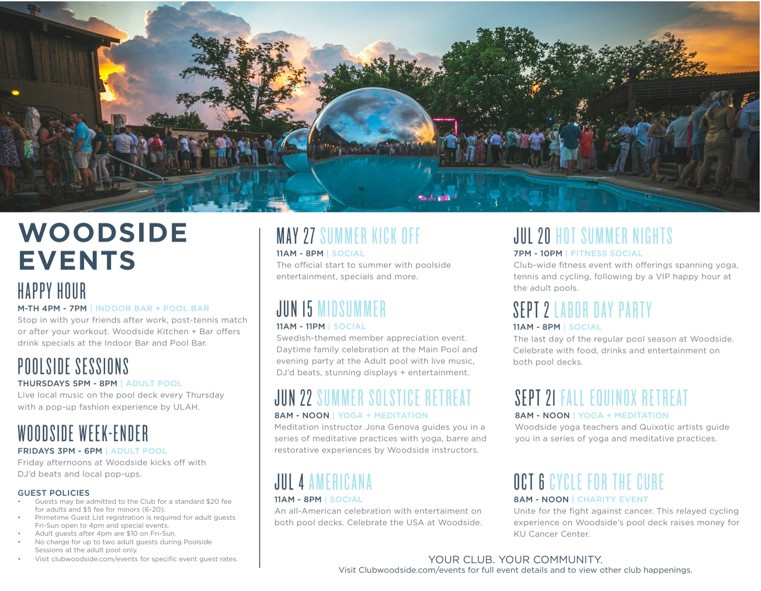 Woodside Events Calendar