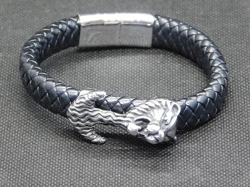 Bracelet ancre tête de lion