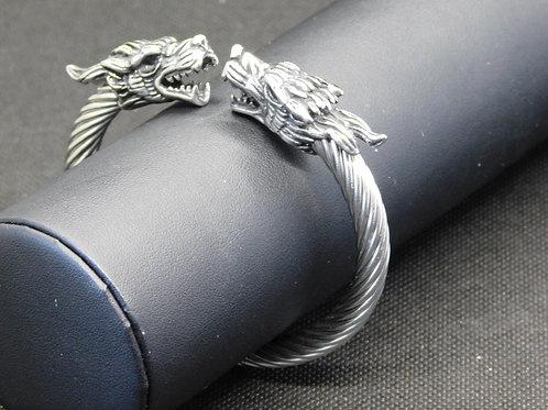 Bracelet acier tête de dragon