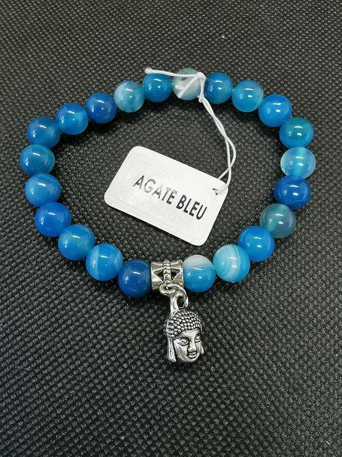 Bracelet agate bleu