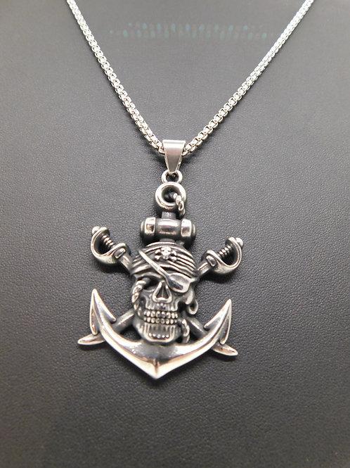 Collier ancre pirate