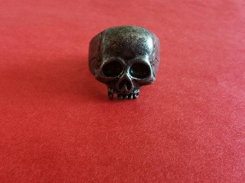 Bague tête de mort acier noir