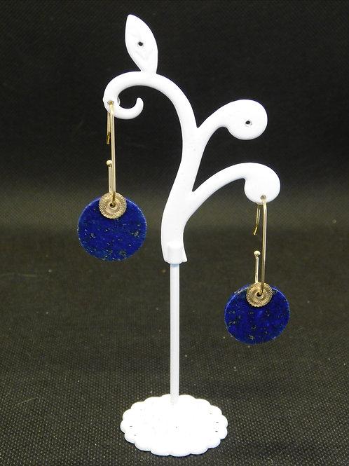 Boucles d'oreilles acier Lapis Lazuli