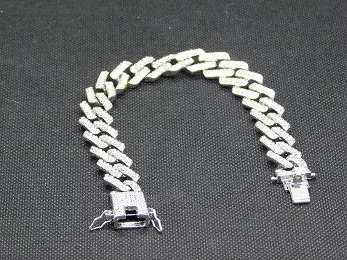 Bracelet strass et acier