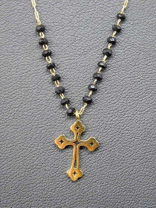 Collier croix en acier