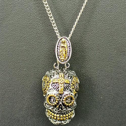 Collier crâne mexicain