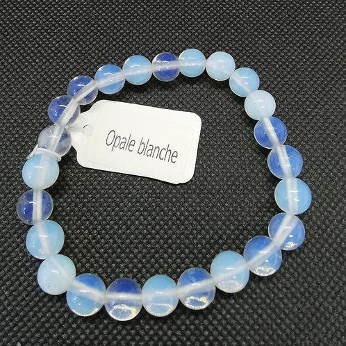 Bracelet opale blanche