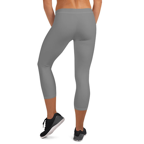 Phoenix Gray Capri Leggings