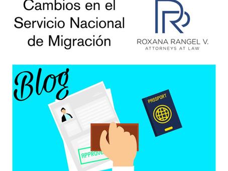 Cambios en el Servicio Nacional de Migración
