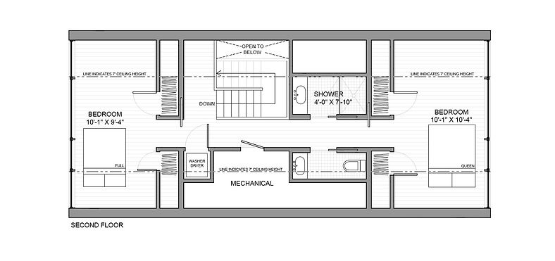 Pewter House second floor plan
