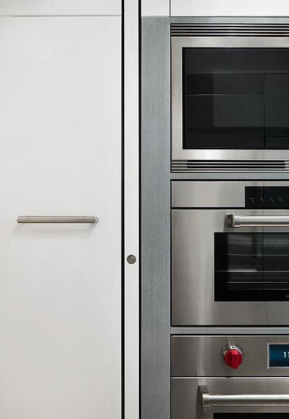East 88th modern kitchen door detail