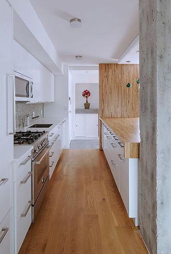 Central Park West Apartment modern kitchen