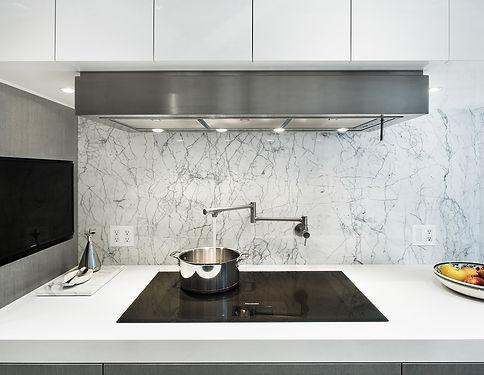 East 88th modern kitchen backsplash