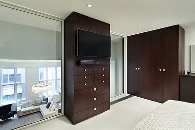 Manhattan Triplex modern bedroom storage